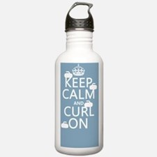 Keep Calm and Curl On  Water Bottle