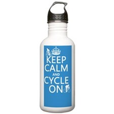 Keep Calm and Cycle On Water Bottle