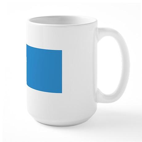 Keep Calm and Cycle On Large Mug