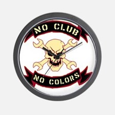No colours no club Wall Clock