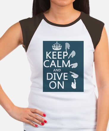 Keep Calm and Dive On Women's Cap Sleeve T-Shirt