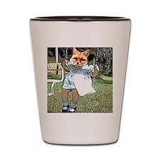 Red Fox Swings Shot Glass