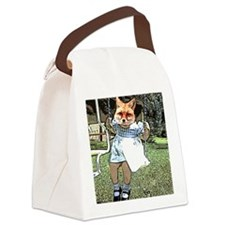 Red Fox Swings Canvas Lunch Bag