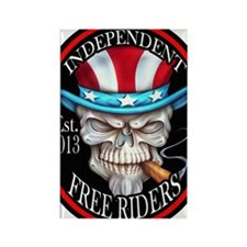 INDEPENDENT FREE RIDERS Rectangle Magnet