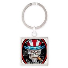 INDEPENDENT FREE RIDERS Square Keychain