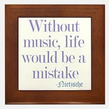 music and life Framed Tile