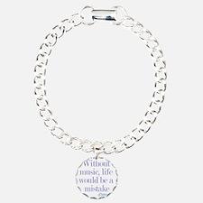 music and life Charm Bracelet, One Charm