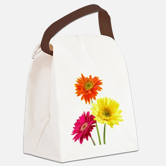 Daisy Gerbera Flowers Canvas Lunch Bag
