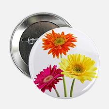 """Daisy Gerbera Flowers 2.25"""" Button"""