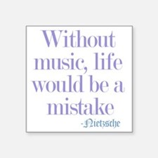 """music and life Square Sticker 3"""" x 3"""""""