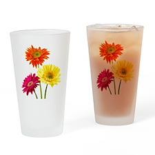 Daisy Gerbera Flowers Drinking Glass