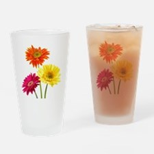Daisy Gerbera Flowers Drinking Glass