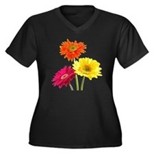 Daisy Gerber Women's Plus Size Dark V-Neck T-Shirt