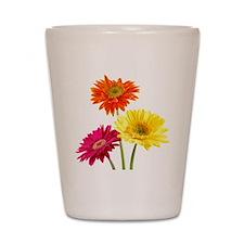 Daisy Gerbera Flowers Shot Glass