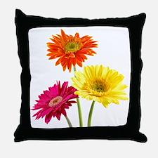 Daisy Gerbera Flowers Throw Pillow