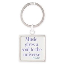 Music gives soul Square Keychain