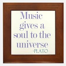 Music gives soul Framed Tile