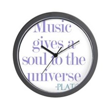Music gives soul Wall Clock