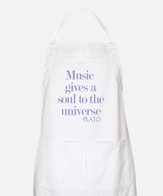 Music gives soul Apron
