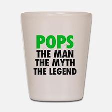 Pops - The Legend - Black Shot Glass
