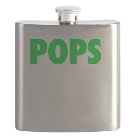 Pops - The Legend - WHITE Flask