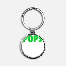 Pops - The Legend - WHITE Round Keychain