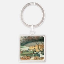 Noah's Ark by Edward Hicks Square Keychain