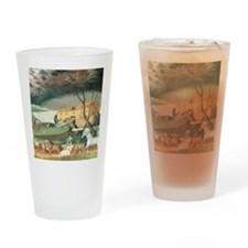 Noah's Ark by Edward Hicks Drinking Glass
