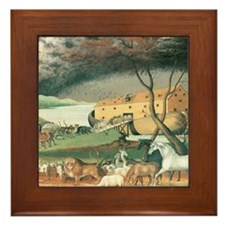 Noah's Ark by Edward Hicks Framed Tile