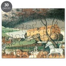 Noah's Ark by Edward Hicks Puzzle