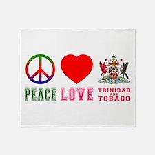 Peace Love Trinidad And Tobago Throw Blanket