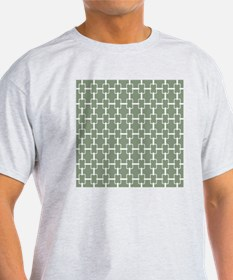 Rectangle Links Sq W Med Loden T-Shirt