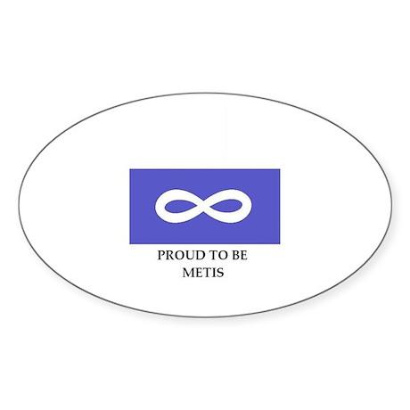 Proud to be Métis Oval Sticker