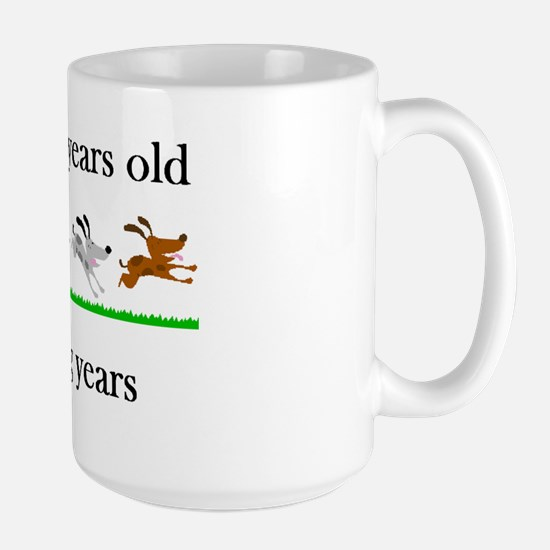 90 birthday dog years 1 Large Mug