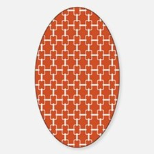 Rectangle Links D60x84 W Orange Decal