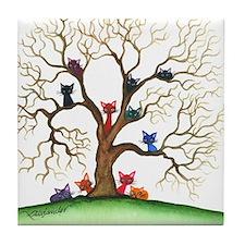 Fayetteville Stray Cats Tile Coaster