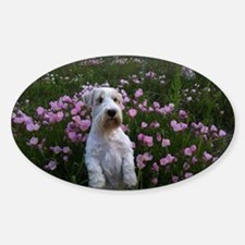 Sealy Sit Flowers Sticker (Oval)