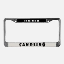 Canoeing License Plate Frame