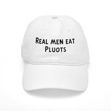 Men eat Pluots Baseball Cap