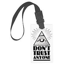 Illuminati Pyramid Dont Trust Luggage Tag