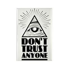 Illuminati Pyramid Dont Trust Rectangle Magnet