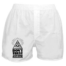 Illuminati Pyramid Dont Trust Boxer Shorts
