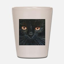 Black Velvet Cat by Lori Alexander Shot Glass