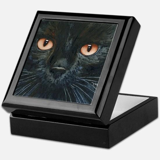 Black Velvet Cat by Lori Alexander Keepsake Box