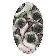 Siamese Kittens by Lori Alexander Decal