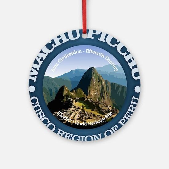 Machu Picchu Round Ornament