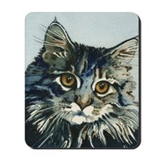 Elfin Maine Coon Cat by Lori Alexander Mousepad