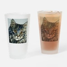 Elfin Maine Coon Cat by Lori Alexan Drinking Glass