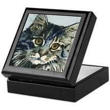 Elfin Maine Coon Cat by Lori Alexande Keepsake Box