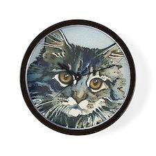 Elfin Maine Coon Cat by Lori Alexander Wall Clock